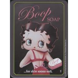 Magnet tôle, plat  dimension 6x8cm :  Betty boop soap