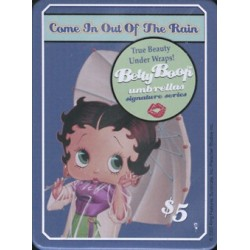 Magnet tôle, plat dimension 6x8cm : Betty boop umbrellas