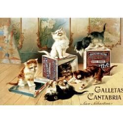 Affiche publicitaire dim : 50x70cm :  Galletas Cantabria