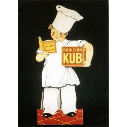 Pour votre décoration intérieure, Affiche publicitaire dim : 50x70cm Bouillon KUB