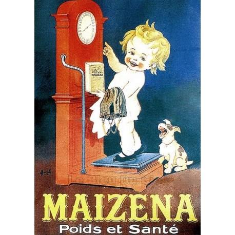 Affiche publicitaire cartonnée dim : 50x70cm Maïzéna bascule