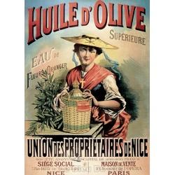Pour votre décoration intérieure, Affiche publicitaire dim : 50x70cm Huile olive de Nice
