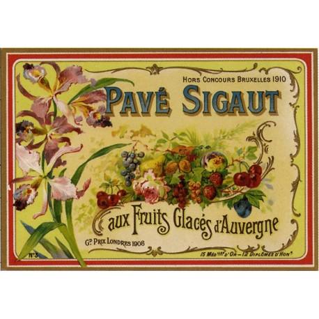 Affiche publicitaire dim : 50x70cm :  Pavés Signaut fruits glacés
