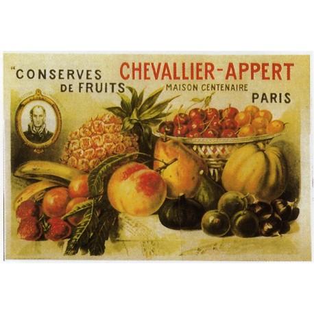 Affiche publicitaire dim : 50x70cm : Conserves de fruits