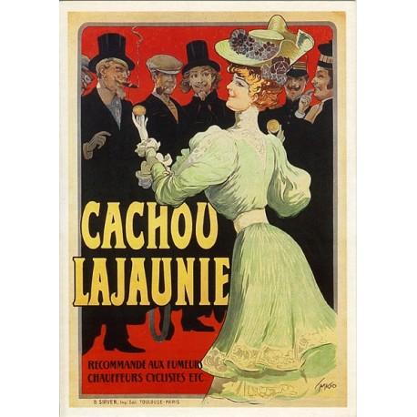 Affiche publicitaire dim : 50x70cm : Cachou LAJAUNIE