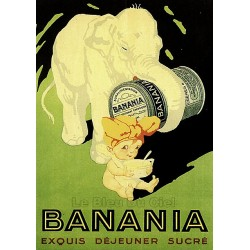 Pour votre décoration intérieure, Affiche publicitaire dim : 50x70cm  : Banania exquis déjeuner