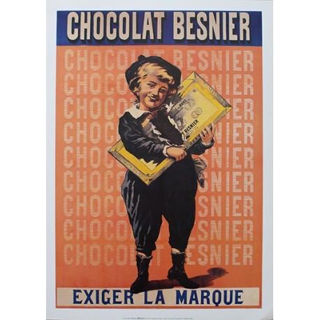 Pour votre décoration intérieure, Affiche publicitaire dim : 50x70cm  : Chocolat Besnier