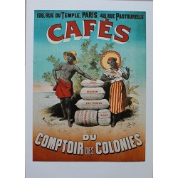 Pour votre décoration intérieure, Affiche publicitaire dim : 50x70cm : Cafés du Comptoir des Colonies