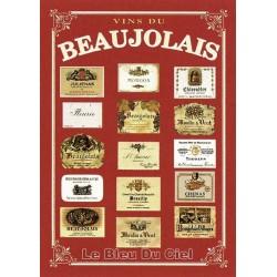 Pour votre décoration intérieure, Affiche publicitaire dim : 50x70cm Vins du Beaujolais