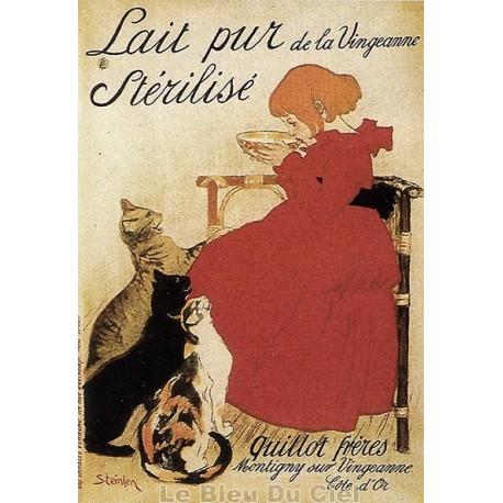 Affiche publicitaire dim : 50x70cm Lait pur de la Vingeanne