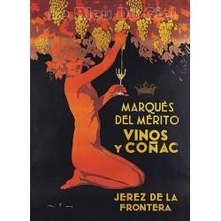 Pour votre décoration intérieure, Affiche publicitaire dim : 50x70cm : Del Mérito vins et Cognac
