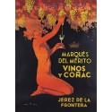 Pour votre décoration intérieure, Affiche publicitaire dim : 50x70cm Del Mérito vins et Cognac