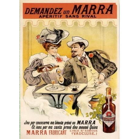 Pour votre décoration intérieure, Affiche publicitaire dim : 50x70cm vin appéritif Marra