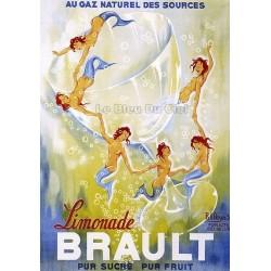 Pour votre décoration intérieure, Affiche publicitaire dim : 50x70cm : Limonade Brault