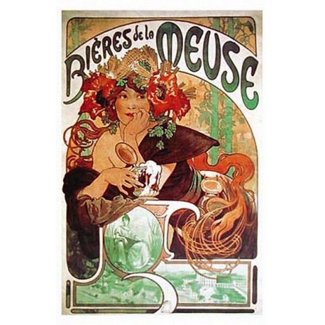 Affiche publicitaire dim : 50x70cm : Bière de la Meuse