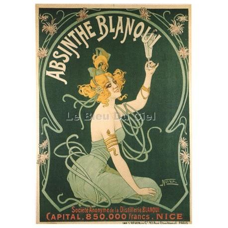 Affiche publicitaire dim 50 x 70cm : Absinthe BLANQUI