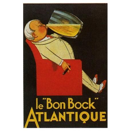 Affiche publicitaire dim : 50x70cm : Le bon bock ATLANTIQUE