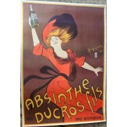 Affiche publicitaire dim 100X70CM absinthe Ducroc fils