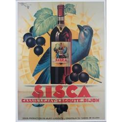 Affiche publicitaire dim : 45x60cm : SISCA CASSIS Lejay-Lagout