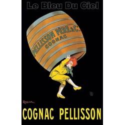 Affiche publicitaire dim 100x70CM Cognac Pellisson