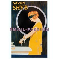 Affiche publicitaire dim : 50x70cm : Savon SHYB