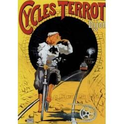 Pour votre décoration intérieure, Affiche publicitaire dim : 50x70cm : Cycles Terrot et Cie