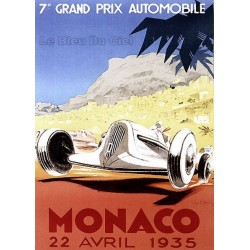 Pour votre décoration intérieure, Affiche publicitaire dim : 50x70cm : Grand Prix de Monaco 1935