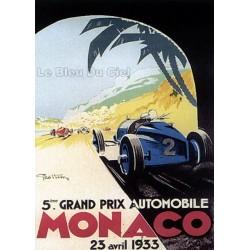 Pour votre décoration intérieure, Affiche publicitaire dim : 50x70cm Grand Prix de Monaco 1933