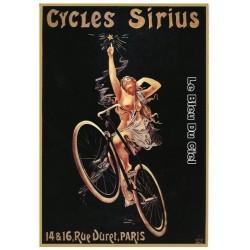 Pour votre décoration intérieure, Affiche publicitaire dim : 50x70cm Cycles Sirius