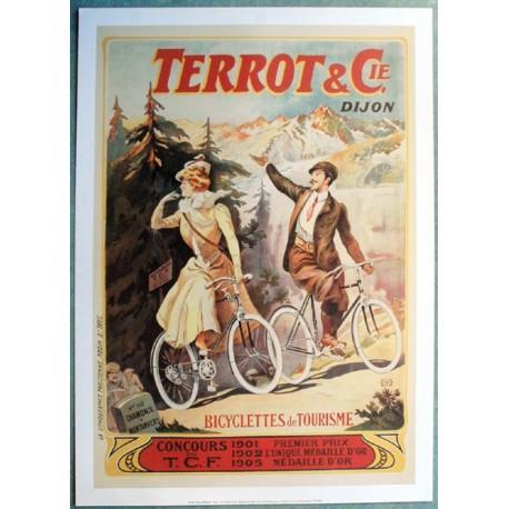 Affiche publicitaire dim : 50x70cm : Cycles TERROT