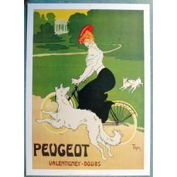 Affiche publicitaire dim : 50x70cm Cycles PEUGEOT