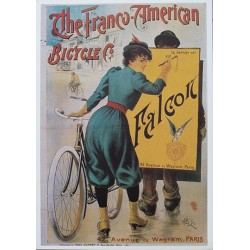 Affiche publicitaire dim : 45x65cm : The Franco American Bicycle