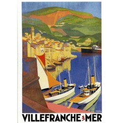 Pour votre décoration intérieure, Affiche publicitaire dim : 50x70cm  : Villefranche sur Mer