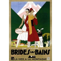 Pour votre décoration intérieure, Affiche publicitaire dim : 50x70cm Brides les bains