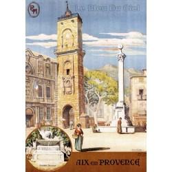 Pour votre décoration intérieure, Affiche publicitaire dim : 50x70cm : Aix en Provence