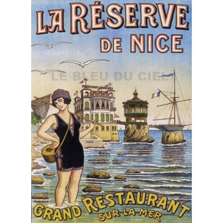 Pour votre décoration intérieure, Affiche publicitaire dim : 50x70cm : La Réserve de Nice
