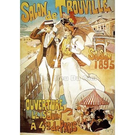 Pour votre décoration intérieure, Affiche publicitaire dim : 50x70cm : Trouville