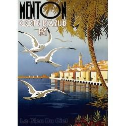 Pour votre décoration intérieure, Affiche publicitaire dim : 50x70cm Menton