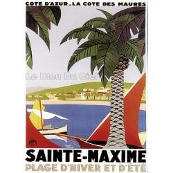 Pour votre décoration intérieure, Affiche publicitaire dim : 50x70cm : Saintes Maximes