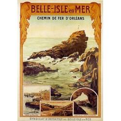 Pour votre décoration intérieure, Affiche publicitaire dim : 50x70cm Belle Isle en Mer