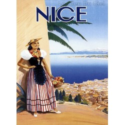 Pour votre décoration intérieure, Affiche publicitaire dim : 50x70cm : Nice