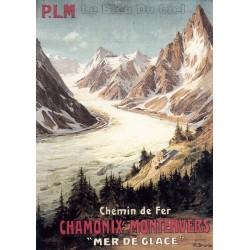 Pour votre décoration intérieure, Affiche publicitaire dim : 50x70cm : Chamonix Montenvers