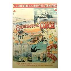 Pour votre décoration intérieure, Affiche publicitaire dim : 50x70cm Excusion en Corse