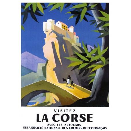 Pour votre décoration intérieure, Affiche publicitaire dim : 50x70cm Visitez la Corse