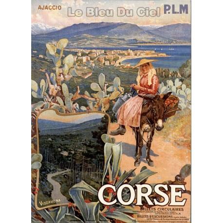 Pour votre décoration intérieure, Affiche publicitaire dim : 50x70cm : la Corse