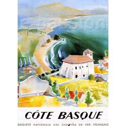Affiche publicitaire dim : 50x70cm  : Côte Basque