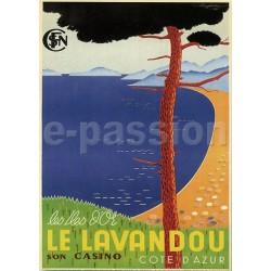 Affiche publicitaire dim : 50x70cm : le Lavandou