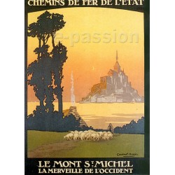 Affiche publicitaire dim : 50x70cm Le Mont Saint Michel