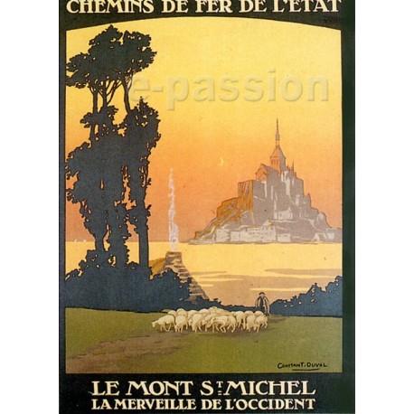 Affiche publicitaire dim : 50x70cm : Le Mont Saint Michel