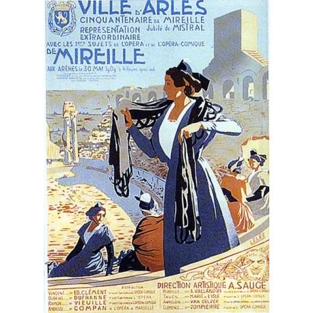 Affiche publicitaire dim : 50x70cm : ARLES